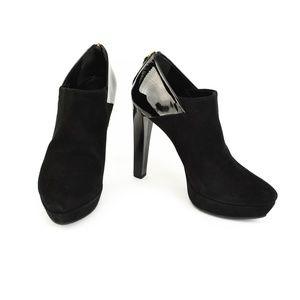 GUCCI: Black, Leather & Logo Platform Ankle Boots
